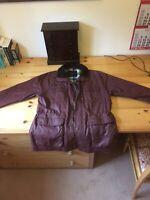 Vedoneire Wax Jacket. Men's Classic Dark Red. Size L. Waxed Cotton Men's Coat.