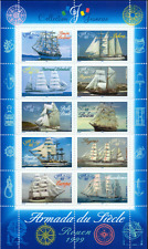 FRANCE FRANKREICH  Sheet Yv 25 MI 3410-3419 MNH ** Segelschiffe Schiffe 038