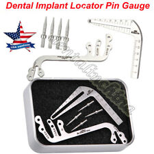 Dental Implant Drill Guide Locator Tooth Measuring Ruler Tool Calipers Ridge S/L