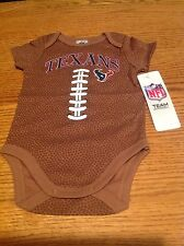 Houston Texans NFL Baby Football Bodysuit, 0-3 Months, New With Tags