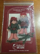 "VINTAGE MY SISTER & I PATTERNS 6"" CHRISTMAS ELVES ORNAMENTS"