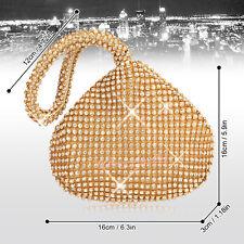 New Women Diamante Encrusted Wedding Evening Clutch Handbag Purse Party Prom Bag