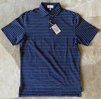 PETER MILLAR Summer Comfort Mens Polo Shirt Blue Small Crown Sport Golf New