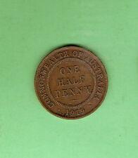 TEN  1919 AUSTRALIAN CIRCLE DESIGN HALFPENNY  COINS
