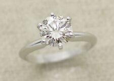 Egl Usa Certified Platinum 1.51ct J/Vs2 Diamond Solitaire Engagement Ring