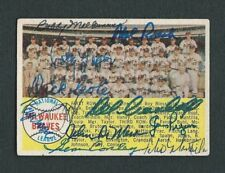 1958 Topps Card #377 Signed (11) 1957 World Champion Milwaukee Braves Team Card
