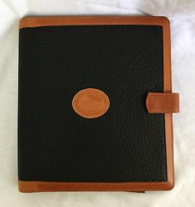 Vintage DOONEY & BOURKE Large Black/Brown Agenda Planner - All Weather Leather
