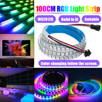 WS2812B 5050SMD 144LED RGB Strip Licht Built-In IC Individual Addressable DC5V