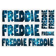 FREDDIE Vinyl Name Stickers A5 Sheet Computer Chip Laptop Name Kids Gift #30009