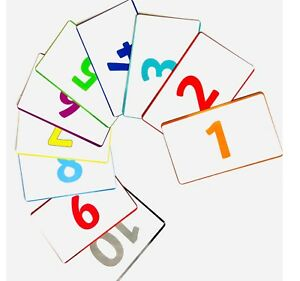 Children's Flash Cards Kids Educational Colours and Numbers 21 Cards (SAME DAY)