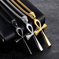 Men Religion Crucifix Necklaces Pendants Stainless Steel Life Cross Necklaces @@