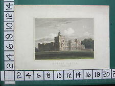c1830 ANTIQUE YORKSHIRE PRINT ~ HORNBY CASTLE SOUTH EAST VIEW ~ HAND COLOURED