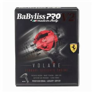 BaByliss Pro Volare V2 Professional Salon Luxury Hair Dryer Ferrari Engine 240v