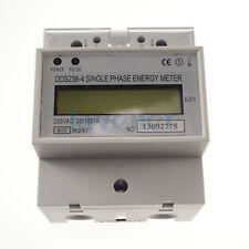 230V 60hz 20A to 100A Single Phase DIN-rail Type Kilowatt Hour kwh Meter