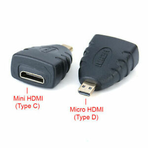 Micro HDMI (Type D) Male to Mini HDMI (Type C) Female Adapter Converter