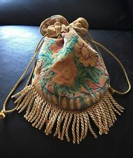 Unique Handmade One Of A Kind Boho Drawstring Pouch Bag