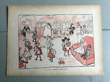 Antique 1899 At The Mansion House Ball Vintage Book Plate Cartoon Line Drwg
