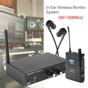 ANLEON UHF Stereo Monitor System In-Ear Stage Digitaler LED Empfänger 561-568M