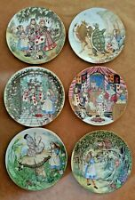 6 Alice in Wonderland Limoges Collector Plates Sandy Nightingale 1981 Authentic