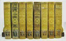 Century Dictionary & Cyclopedia Vols 2-9 Oversize Decorative 1897 8 books