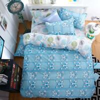 Single Double Queen King Size Bed Set Pillowcase Quilt Duvet Cover Cute Dogs O