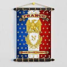 FRANCE Napoleon Imperial Flag: SET 5in1: Banner Sticker Pennant Postcard Magnet