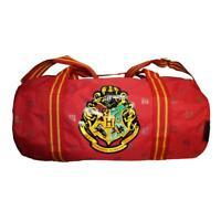 Official Harry Potter Hogwarts Crest Burgundy Barrel Holdall Duffel Travel Bag