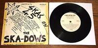 "THE SKA-DOWS ~ SKAS ON 45 b/w RHAPSODY IN BUH ~ UK CHEAPSKATE SKA REGGAE 7"" 1981"