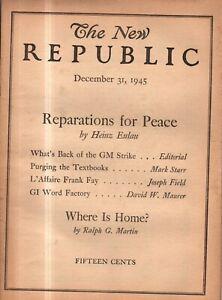 1945 New Republic December 31 - Nuremberg; Lindbergh; Fascism's survival power