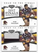 2018 NRL Elite Road To The Finals (RF 1) Sam THAIDAY Broncos 125/165