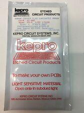 KEPRO COPPER CLAD LAMINATES FR-4. PHOTOSENSITIZED 51-36G