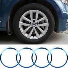 Blue Aluminum Wheel Rim Center Logo Hub Caps Ring Cover For VW Jetta 1996-2019