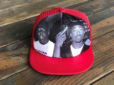Trucker Hat SnapBack Adjustable Strap Tupac 2Pac Notorious BIG Biggie (RED)