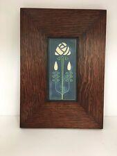 Motawi Long Stem Art Tile in a Family Woodworks Legacy Arts & Crafts Frame
