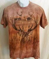 GET A LIFE  ~Mule Deer Bucks ~Graphic Tee ~Brown ~ Men's Size XL