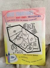 Vintage Aunt Martha's Hot Iron Transfers Asst Alphabets Sheet For Textile Pntng