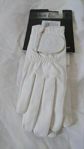 Caldene Competition Riding Glove CG001 White Medium