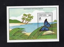 Grenada 1986 Giant Hairstreak Blue Butterfly  Minisheet MNH  Sc 1818 SG MS2099a