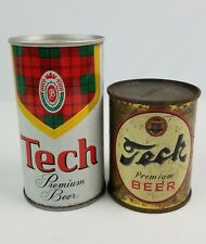 Vintage Tech Gem Size Beer Can 8 oz fair condition w/ extra 12 oz can