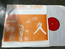The Who Tommy 3LP Live Radio City Music Hall 1989 Rare