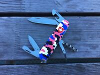 Swiss Army knife Victorinox   Camouflage  Pink Custom