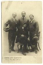 New York Ny Empire City Quartette Cooper Tally Mayo & Cooper Real Photo Postcard