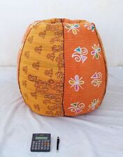 Handmade Quilted Cotton Floral Bohemian Bean Bag Slipcover and insert BD94