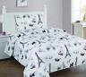 3/4 Piece Girls Fitted Flat SHEET Pillow Cases Set Paris France Eiffel Tower
