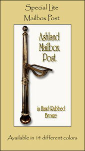 Special Lite Ashland Mailbox Post with Direct Burial Kit 8 Color Choices No Rust