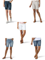 ***NEW WOMENS LEE RIDERS REGULAR FIT MID RISE CASUAL DENIM BERMUDA SHORTS