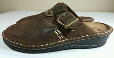 NAOT Sandals Womens EU 37 US 6 Brown Slides Clog Flat Mary Jane Leather Strappy