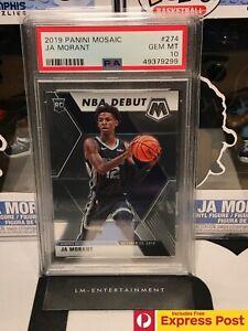 2019-20 PANINI MOSAIC NBA JA MORANT NBA DEBUT BASE ROOKIE CARD RC #274 PSA 10