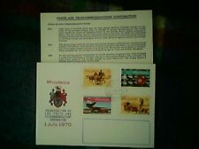 RHODESIA FIRST DAY COVER POSTS & TELECOMMUNICATION 1970-FREE UK POST-BIN £4.99