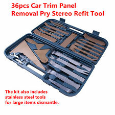 36pcs Plastic Dash stainless steel Car Trim Panel Removal Pry Stereo Refit Tool